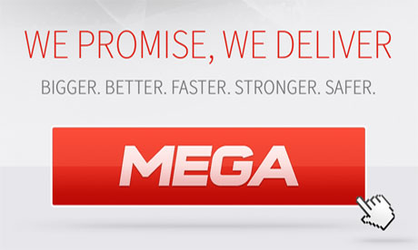 A screen grab from the Megaupload preview page