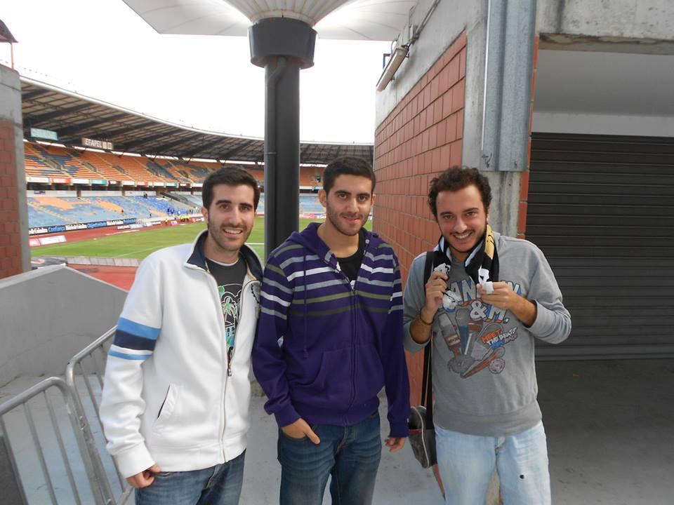Da sinistra a destra: Borja Lara, Victor Solano e il traduttore Salvatore Formicola.