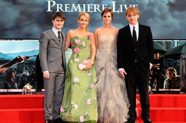 Daniel Radcliffe, JK Rowling, Emma Watson and Rupert Grint-1345499