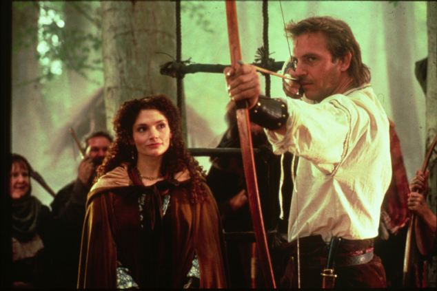 Scene from the 1991 FILM.....'ROBIN HOOD:PRINCE OF THIEVES' Star