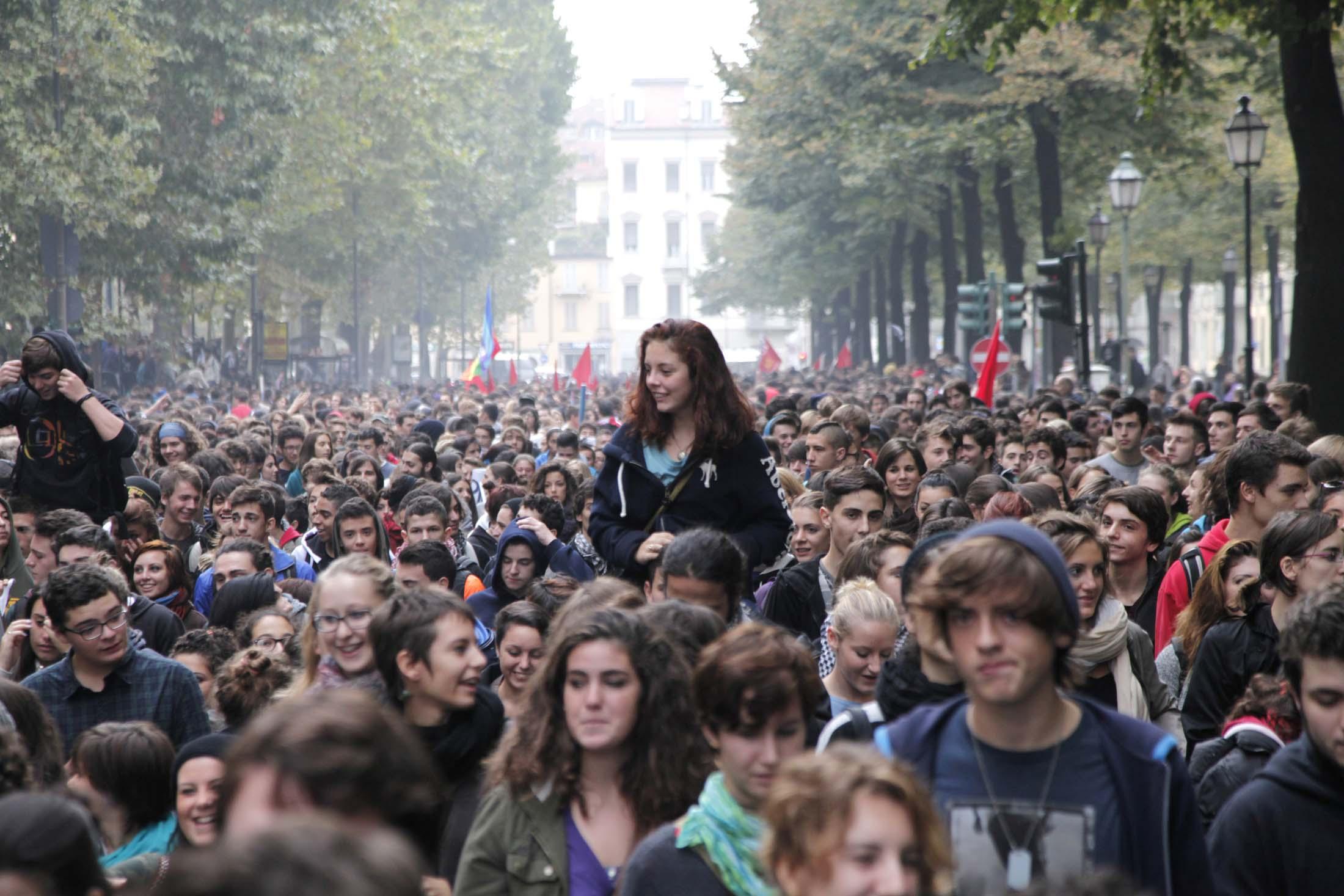 12/10/2012 manifestazione studenti to / andreja retsek