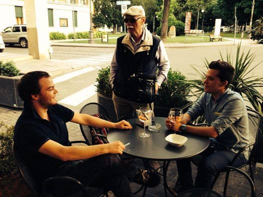 Andrea Bernardini, sulla destra, intervistato dal nostro Umberto Marsilio