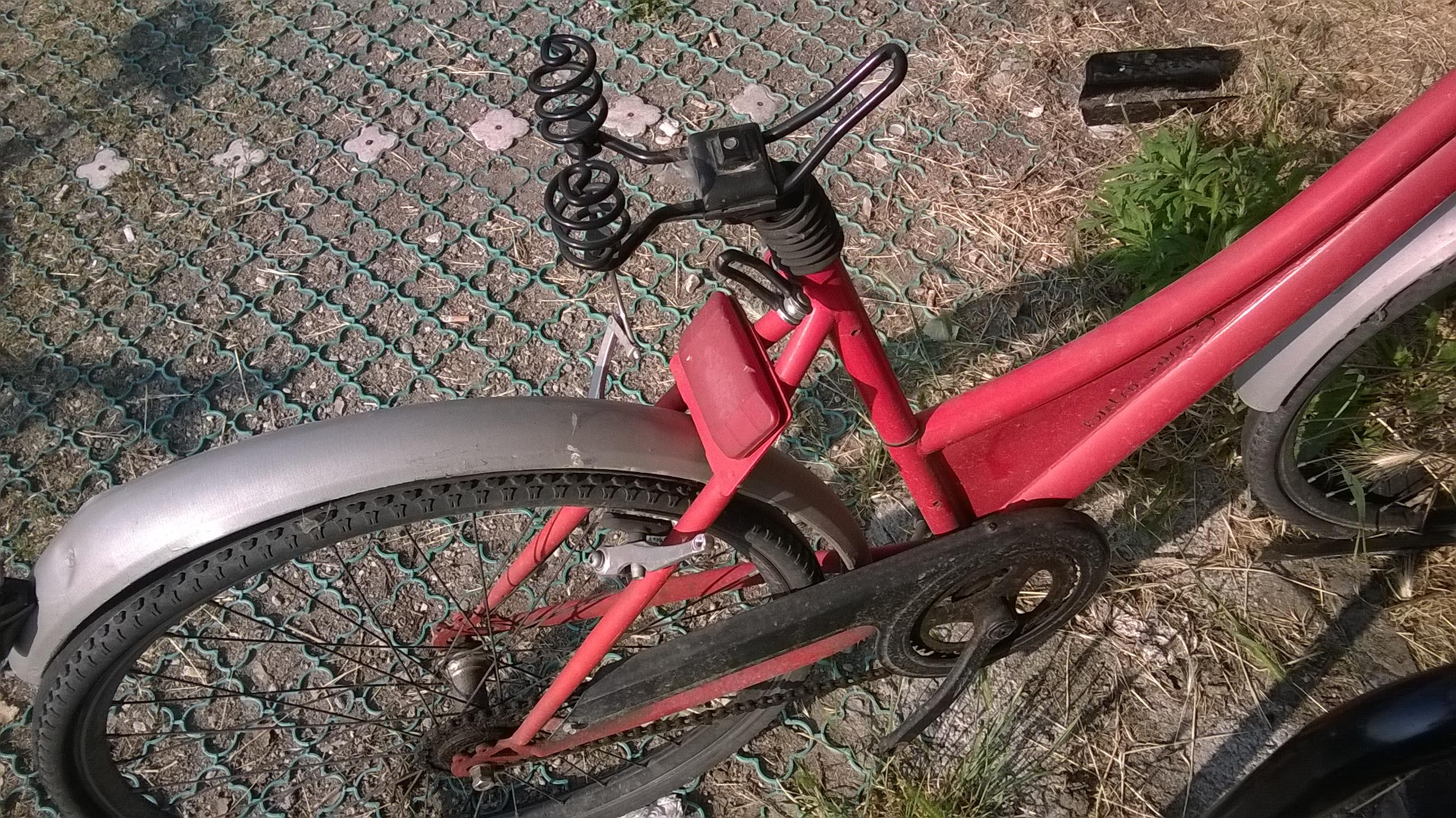 Nel dettaglio, sellino e pedali mancanti