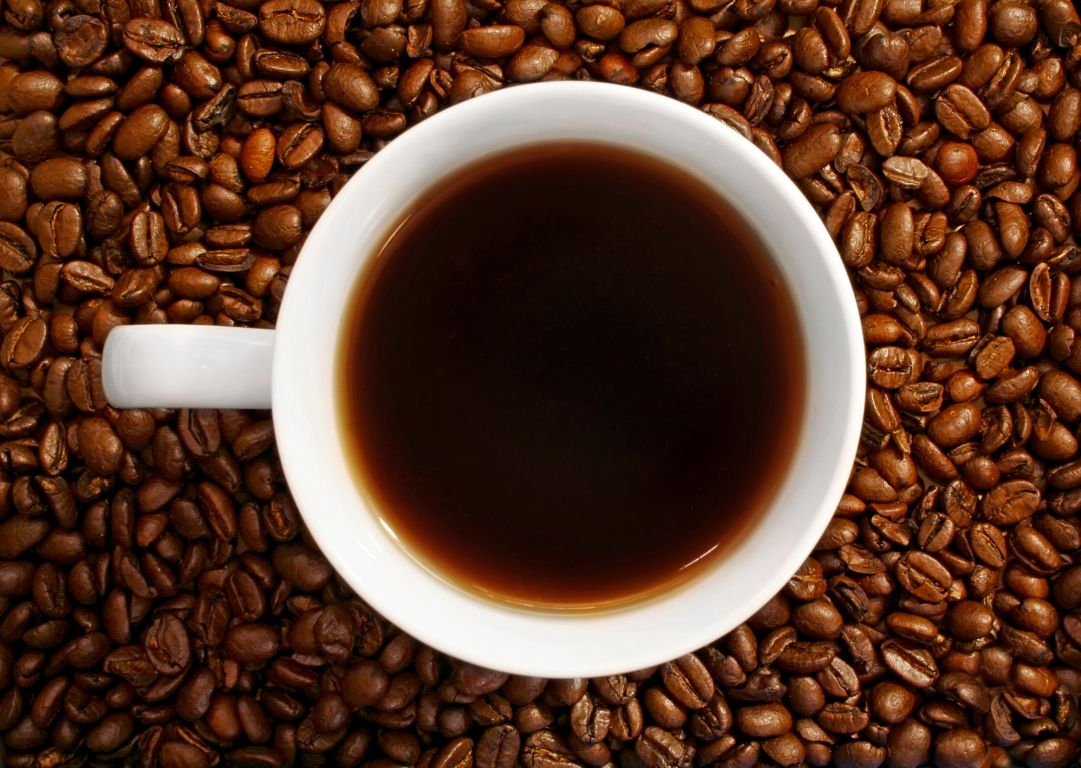 Caffè e chicchi tostati
