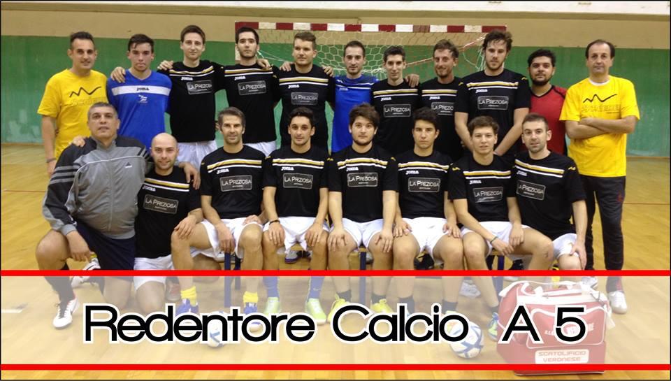 (La rosa del Redentore C5 per il campionato di Serie D 2014/2015. Foto: pagina Facebook ufficiale della squadra)