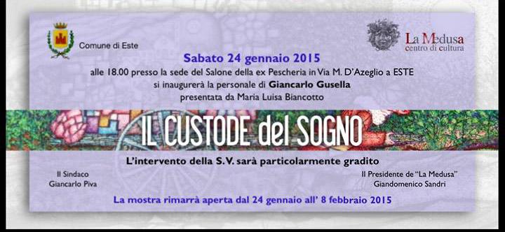 Volantino inaugurazione della personale (fotografia: facebook.com)