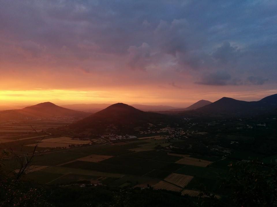 Panorama del Parco Colli Euganei. Foto di Carlo Dotto.