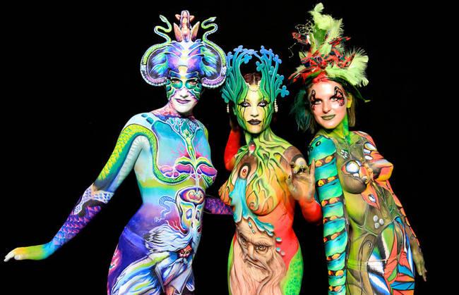 (Opera di body painting. Fonte: www.stile.it).