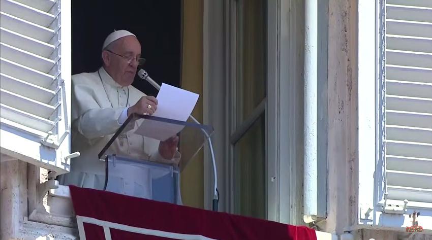 (Papa Francesco durante l'Angelus di domenica 28 giugno 2015)