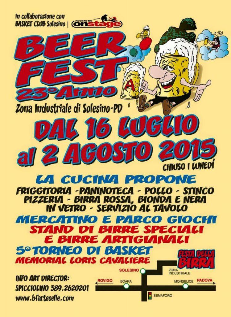 Locandina Beerfest Solesino 2015  www.beerfestsolesino.com