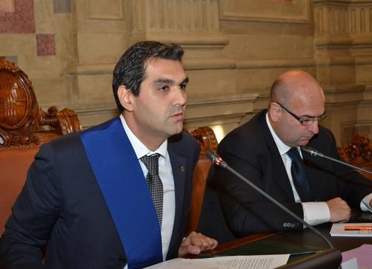 Enoch Soranzo e Fabio Bui in Consiglio Comunale (Fonte foto: www.provincia.pd.it)