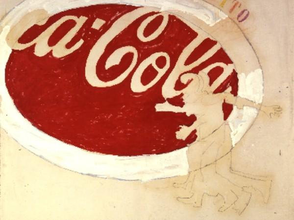 (Mario Schifano, Coca Cola. Fonte: arte.it)