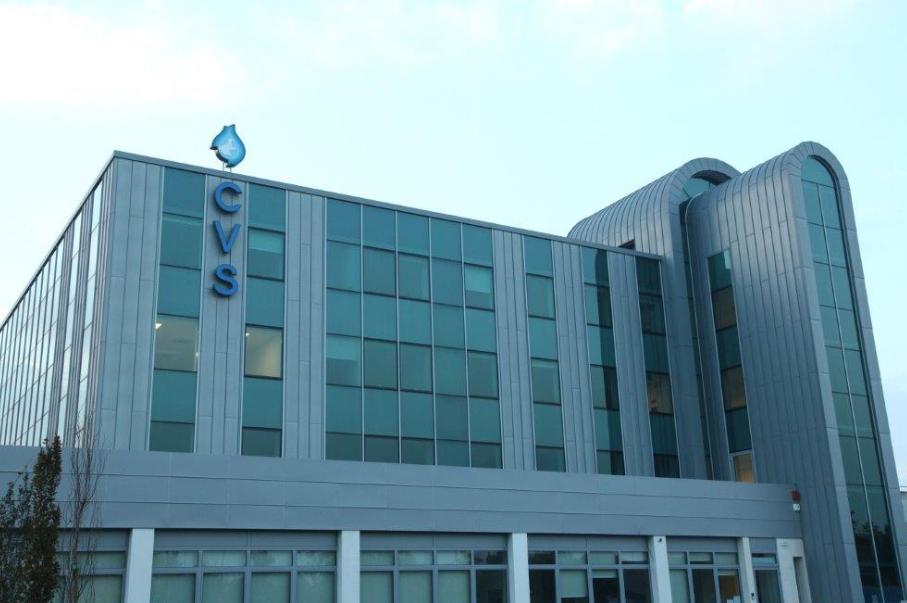 (La sede del Centro Veneto Servizi in via Colombo, a Monselice)