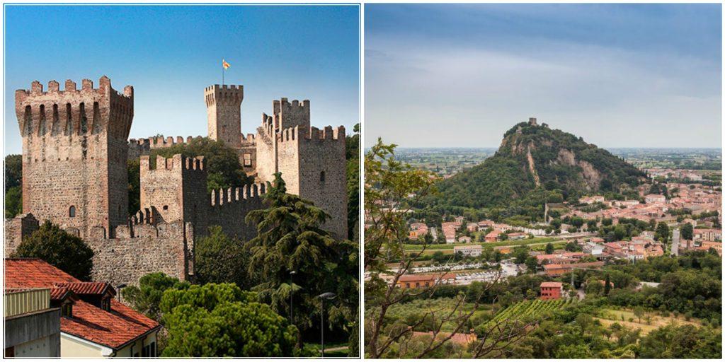 (Il Castello Carrarese di Este e il Colle della Rocca di Monselice)