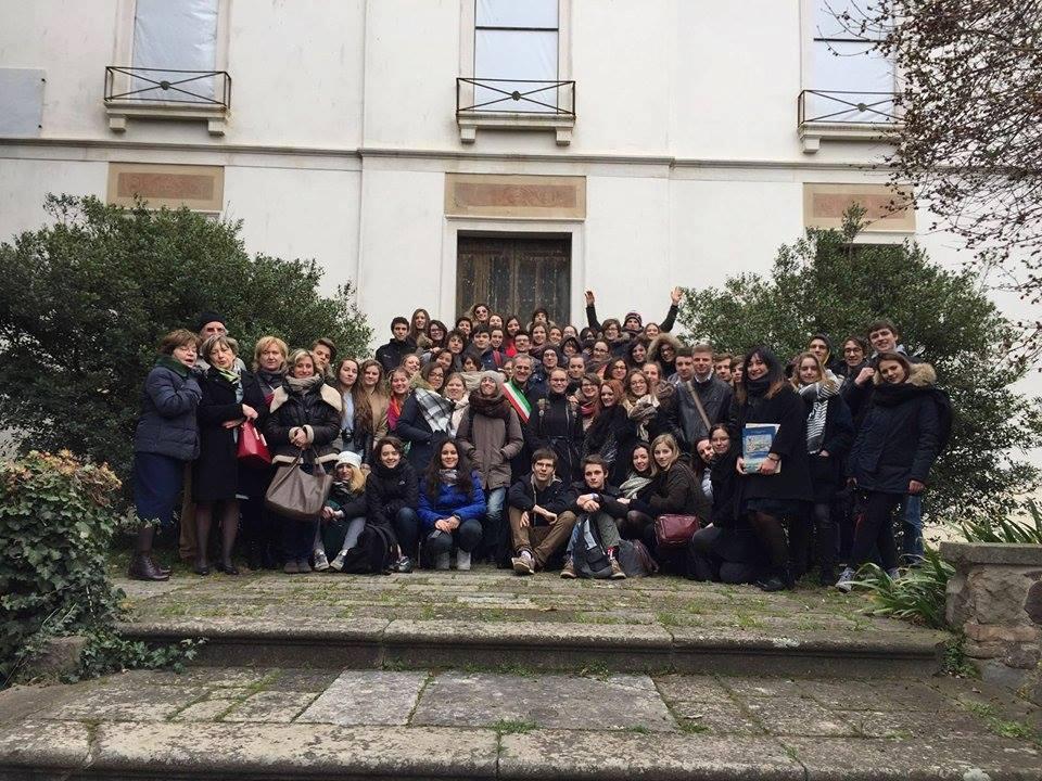 (Il gruppo Erasmus a Este)