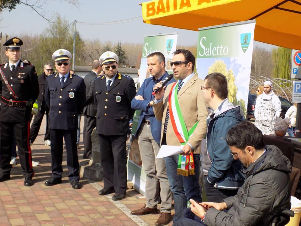 (L'intervento del sindaco di Saletto Michele Sigolotto. © Estensione)